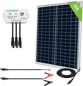 ECO-WORTHY Compact Portable Fully Waterproof Polycrystalline Solar Panel