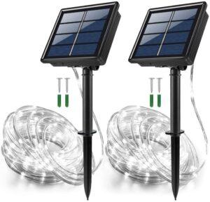 JosMega Solar Powered String Rope Lights