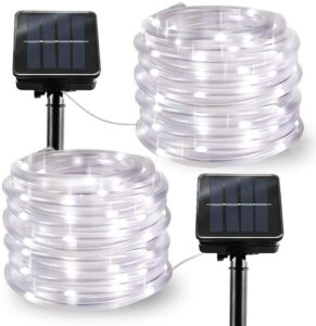 LiyuanQ 8 Mode Solar Rope Lights